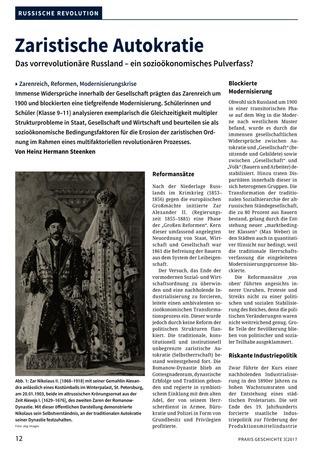 Zaristische Autokratie - Das vorrevolutionäre Russland – ein ...
