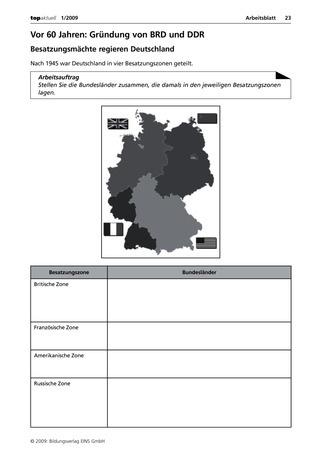 Vor 60 Jahren: Gründung von BRD und DDR - Arbeitsblatt: Verlage der ...