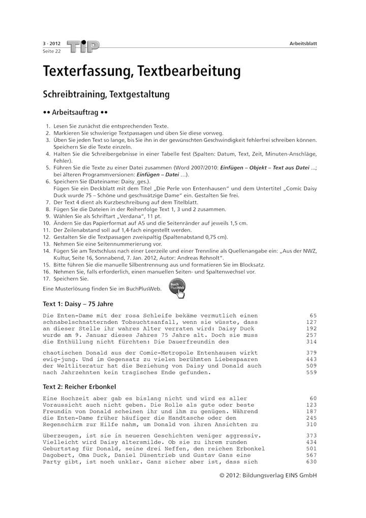 Texterfassung, Textbearbeitung - Schreibtraining, Textgestaltung ...