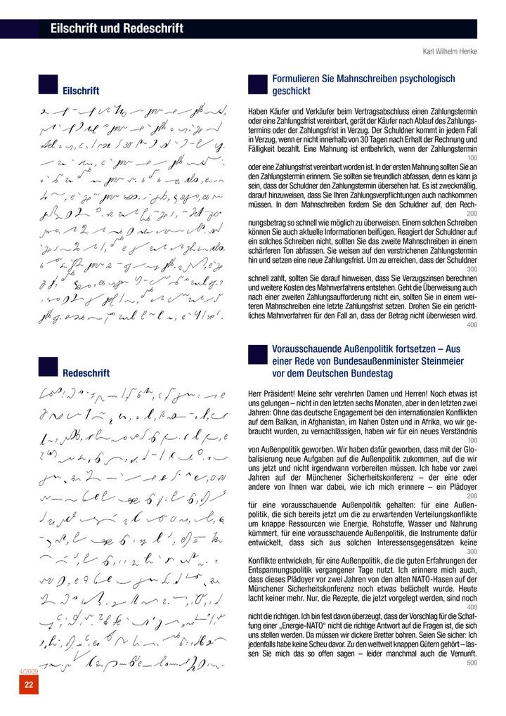 Eilschrift Und Redeschrift Bildungsverlag Eins
