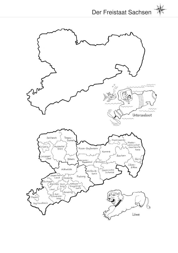 Der Freistaat Sachsen - Karte: Verlage der Westermann Gruppe
