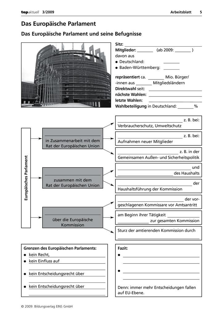 Das Europäische Parlament - Das Europäische Parlament und seine ...