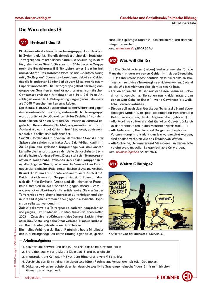 Die Wurzeln des IS: Westermann Gruppe in Österreich