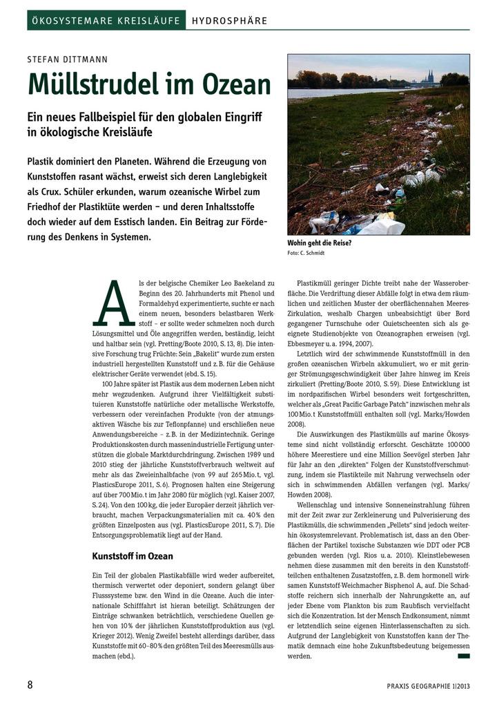 Müllstrudel im Ozean - Ein neues Fallbeispiel für den globalen ...