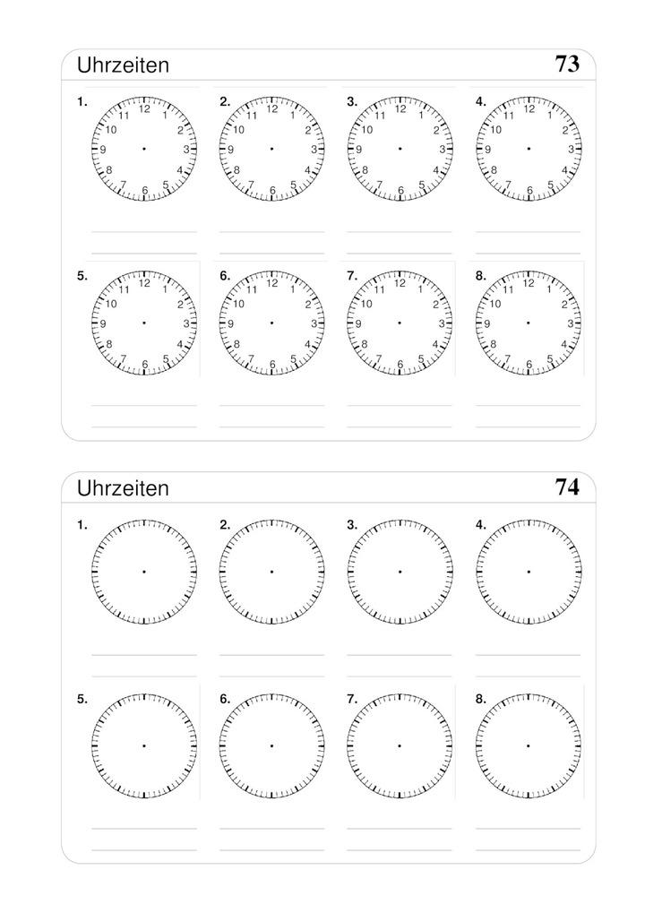 Uhrzeiten Blanko 8 Uhren Verlage Der Westermann Gruppe