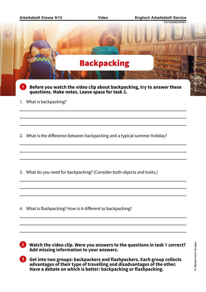 Backpacking: Verlage der Westermann Gruppe