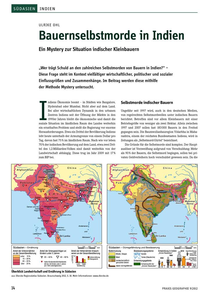 Bauernselbstmorde in Indien - Ein Mystery zur Situation indischer ...