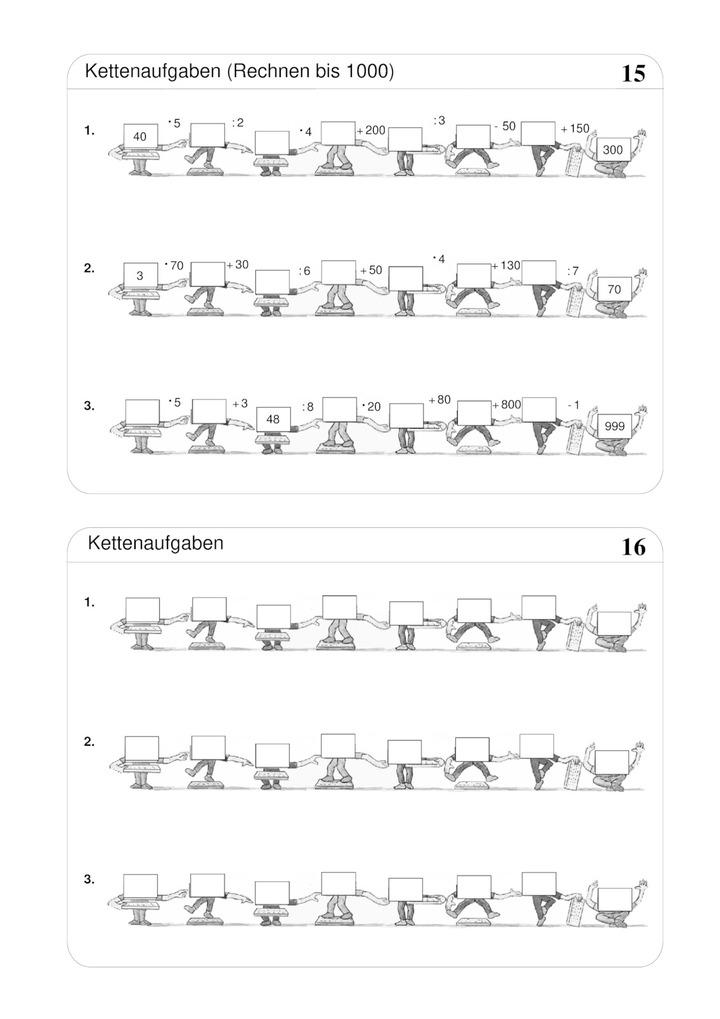 grundrechenarten bis 1000 kettenaufgaben verlage der westermann gruppe. Black Bedroom Furniture Sets. Home Design Ideas