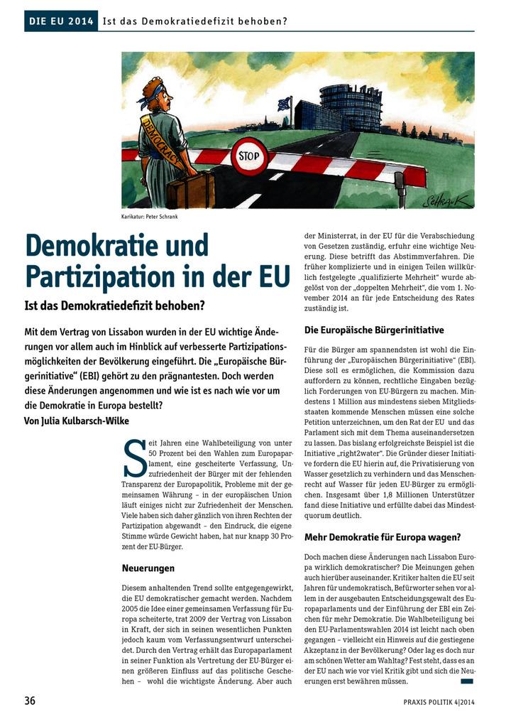 Demokratie Und Partizipation In Der Eu Ist Das Demokratiedefizit