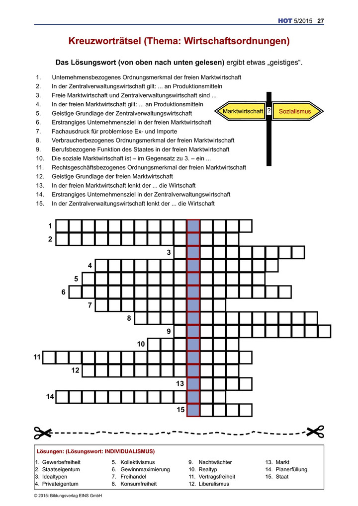 Freie Kreuzworträtsel