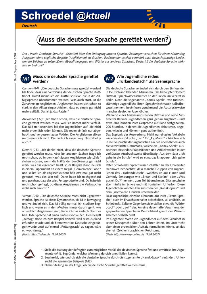 Materialpaket: Deutsche Sprache - - die wichtigsten Arbeitsblätter ...