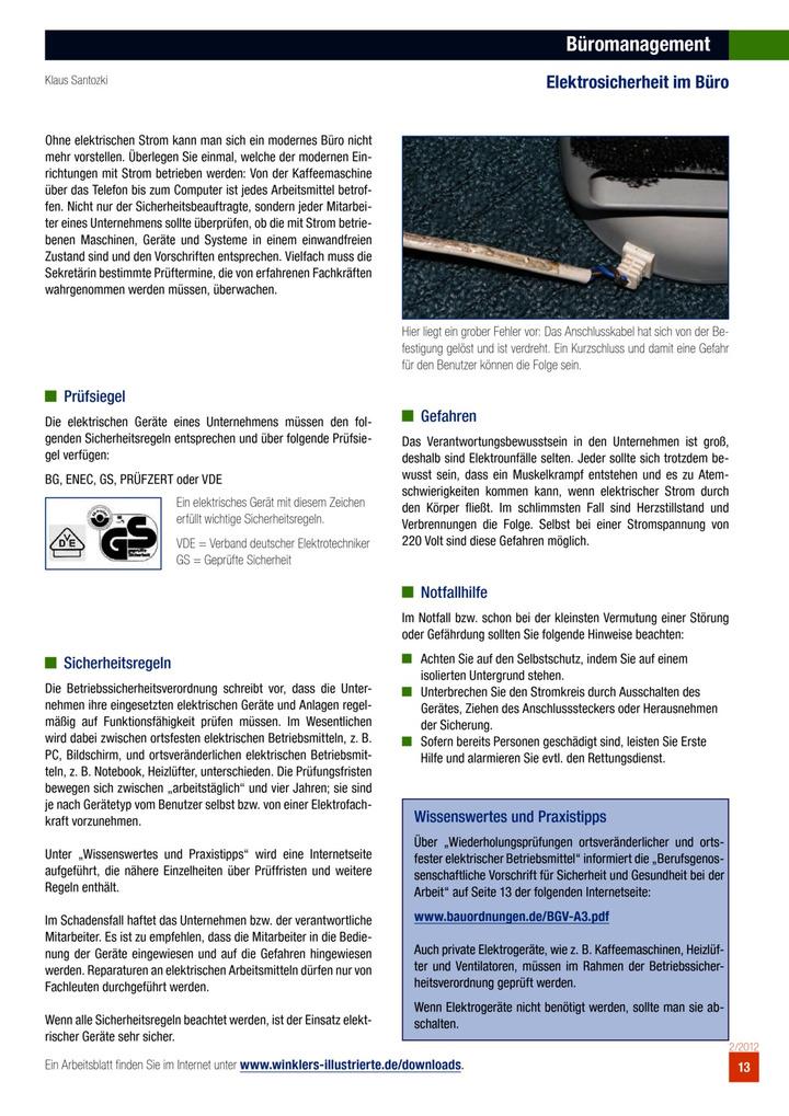 Büromanagement: Elektrosicherheit im Büro: Verlage der Westermann Gruppe