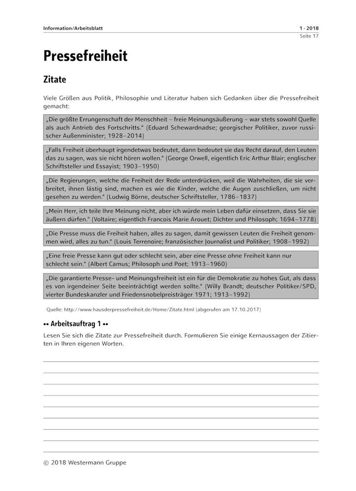 Pressefreiheit - Zitate - Meinungsfreiheit im Grundgesetz ...