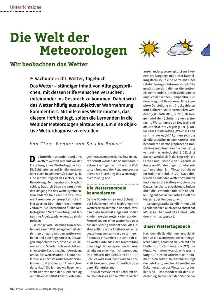 Die Welt der Meteorologen - Wir beobachten das Wetter: Verlage der ...
