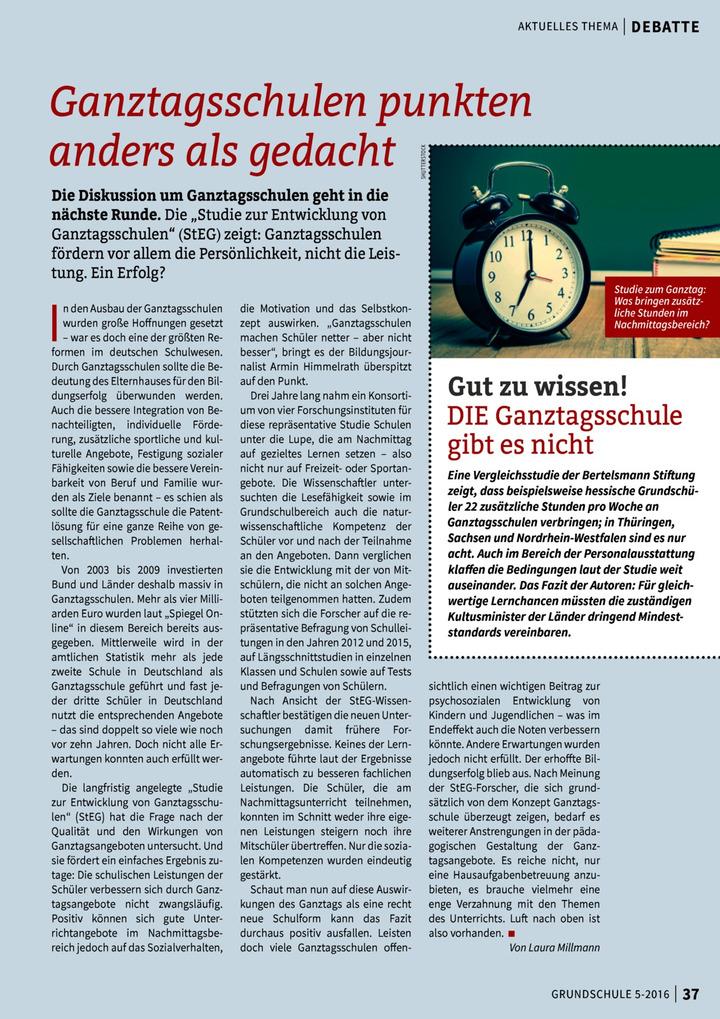 Ganztagsschulen Punkten Anders Als Gedacht Verlage Der Westermann