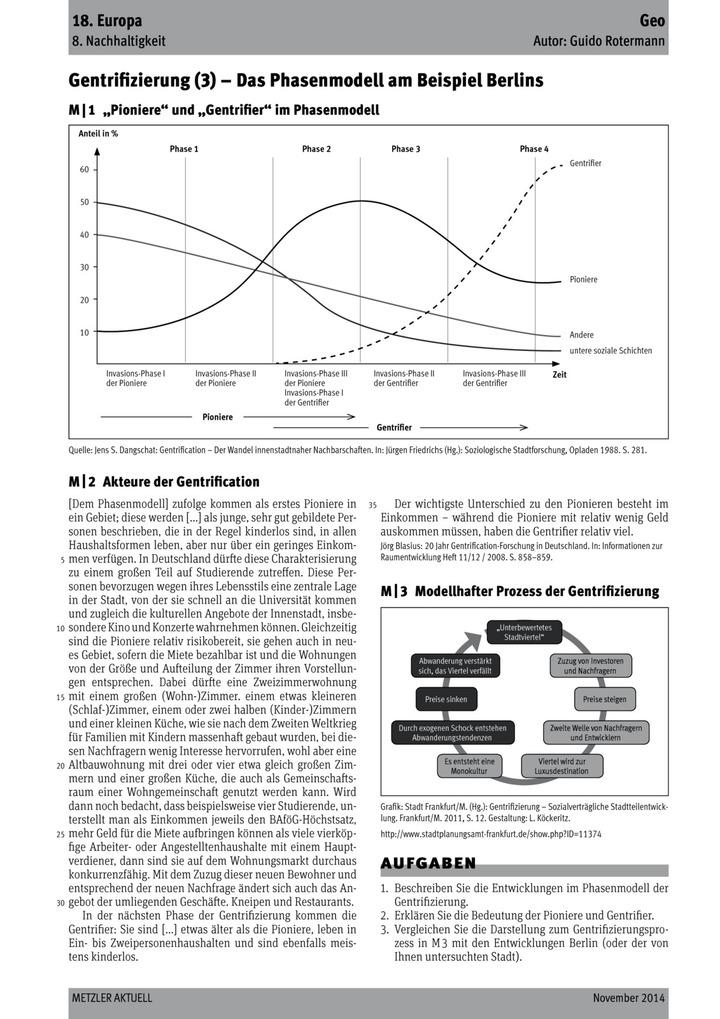 Gentrifizierung (3) - Das Phasenmodell am Beispiel Berlins: Verlage ...