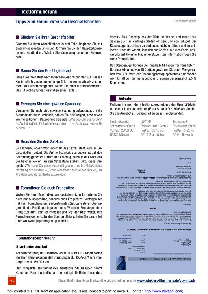 Textformulierung Winklers Verlag