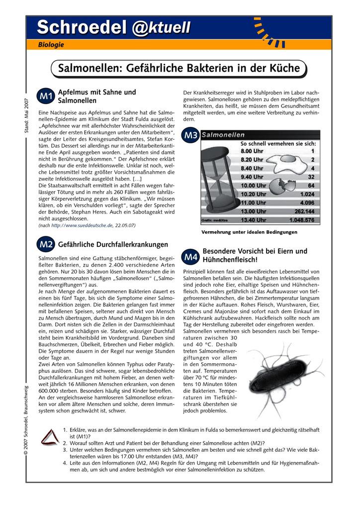 Amazing Bakterien Arbeitsblatt High School Biologie Images ...