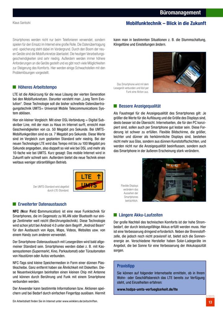 Büromanagement - Mobilfunktechnik - Blick in die Zukunft: Verlage ...