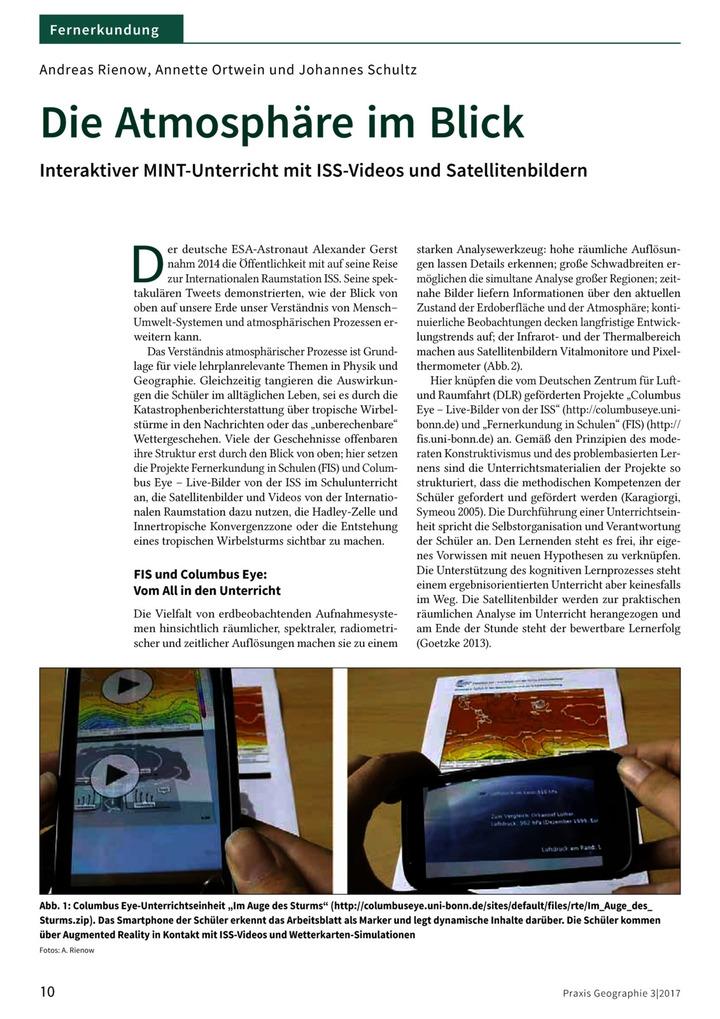 Die Atmosphäre im Blick - Interaktiver MINT-Unterricht mit ISS ...