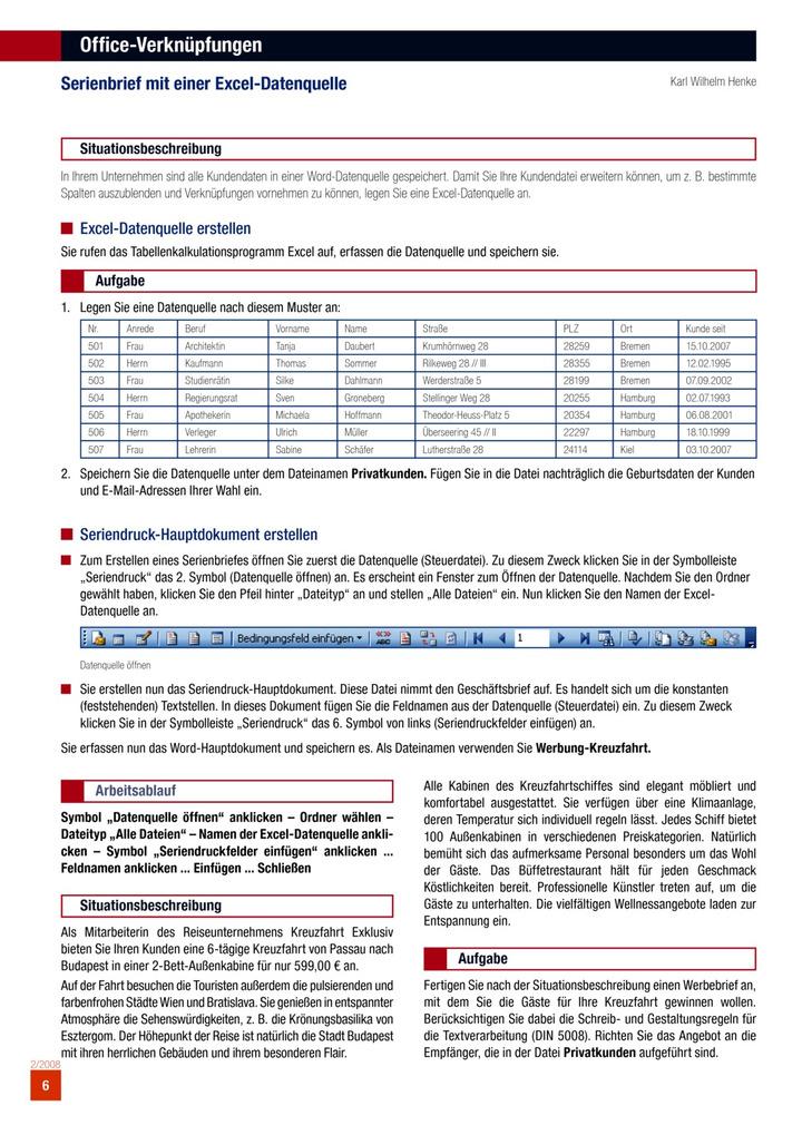 Office Verknüpfungen Bildungsverlag Eins