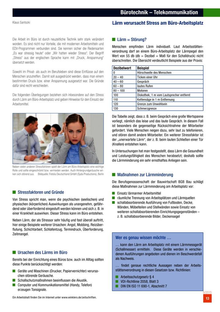 Bürotechnik - Telekommunikation - Lärm verursacht Stress am Büro ...