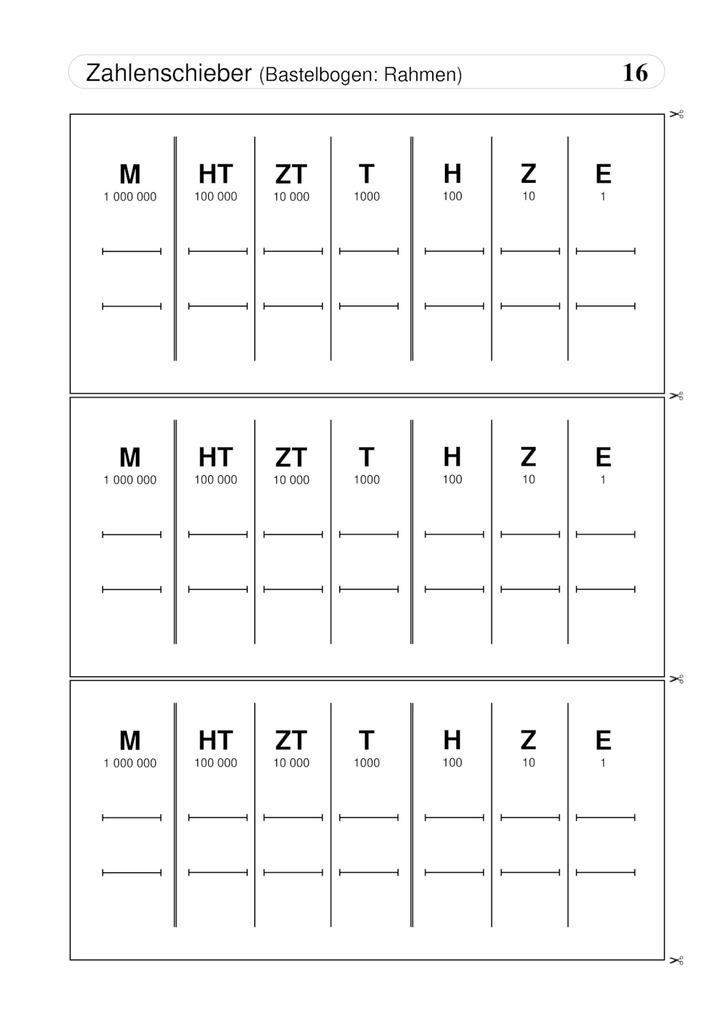 Zahlenschieber - Bastelbogen: Verlage der Westermann Gruppe