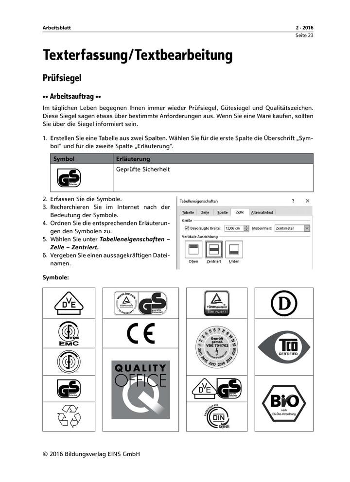 Prüfsiegel: Bildungsverlag EINS