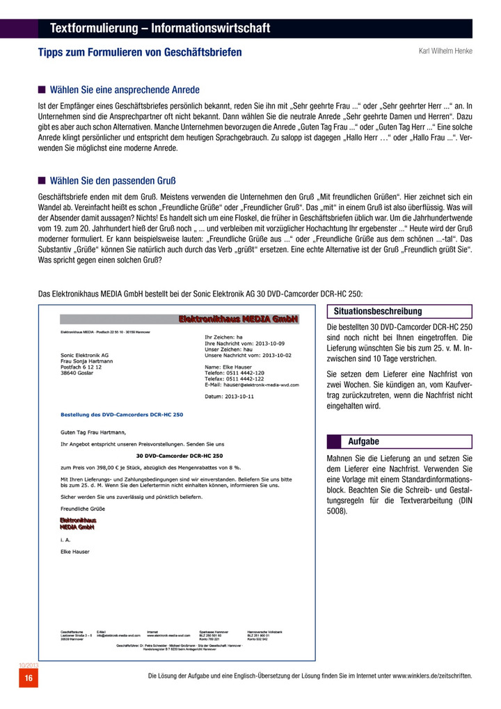 Textformulierung Informationswirtschaft Tipps Zum Formulieren