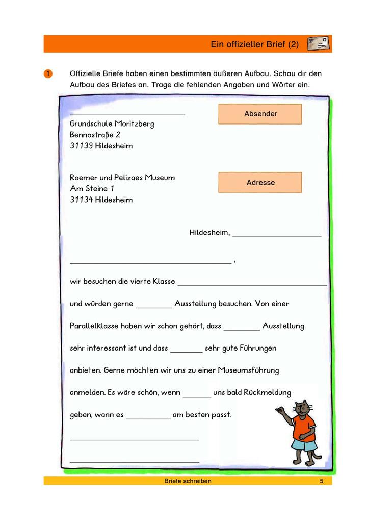 Ein Offizieller Brief 2 Lückentext Verlage Der Westermann Gruppe
