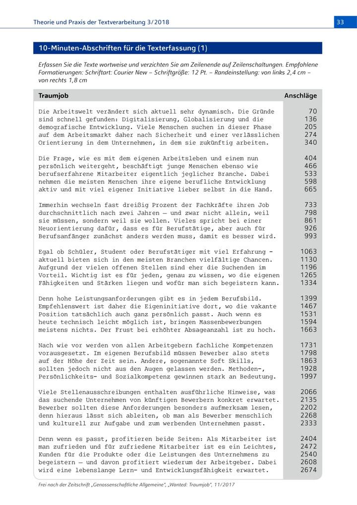 Text 10 zum ausdrucken minuten abschrift 10 minuten