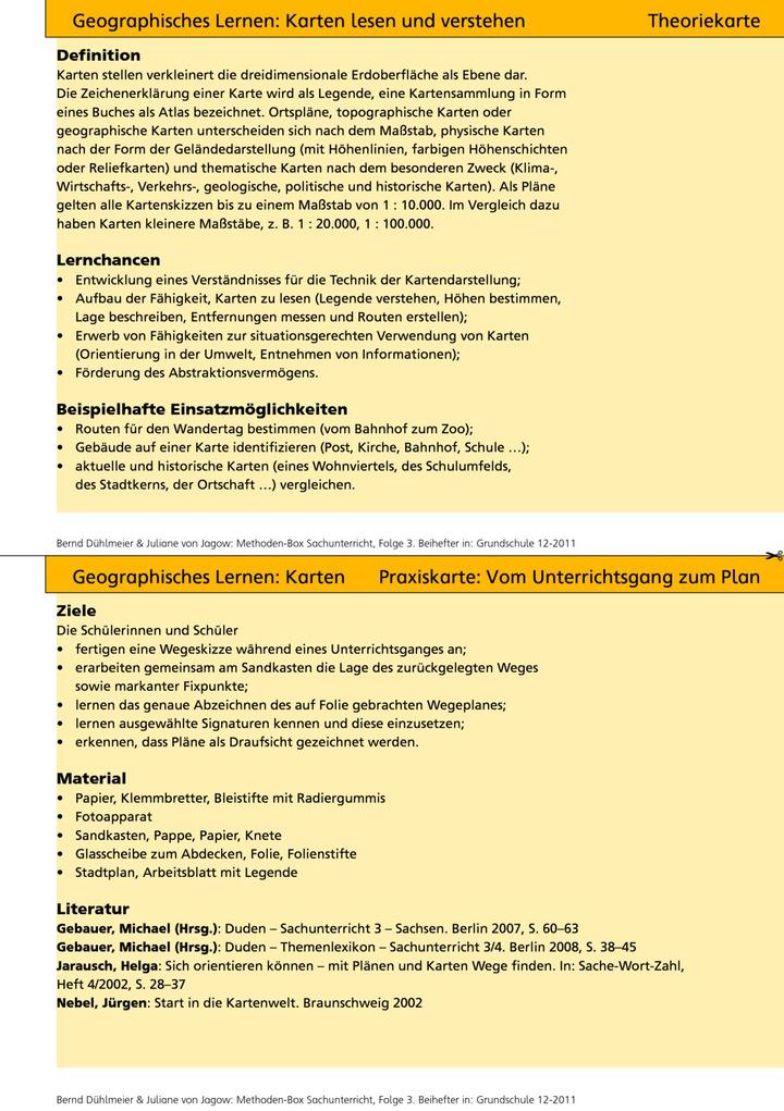 EXTRA: Methoden-Box - Methoden-Box Sachunterricht (Teil 3): Verlage ...