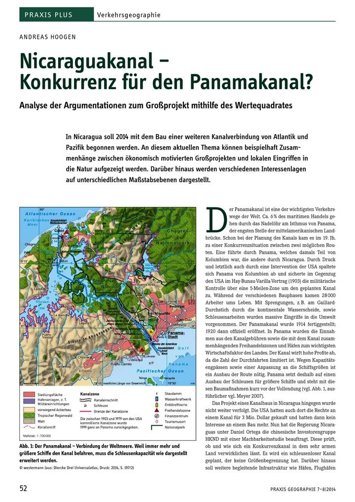 Nicaraguakanal - Konkurrenz für den Panamakanal? - Analyse der ...