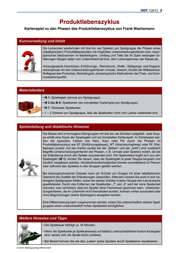 Produktlebenszyklus - Produktlebenszyklus: Bildungsverlag EINS
