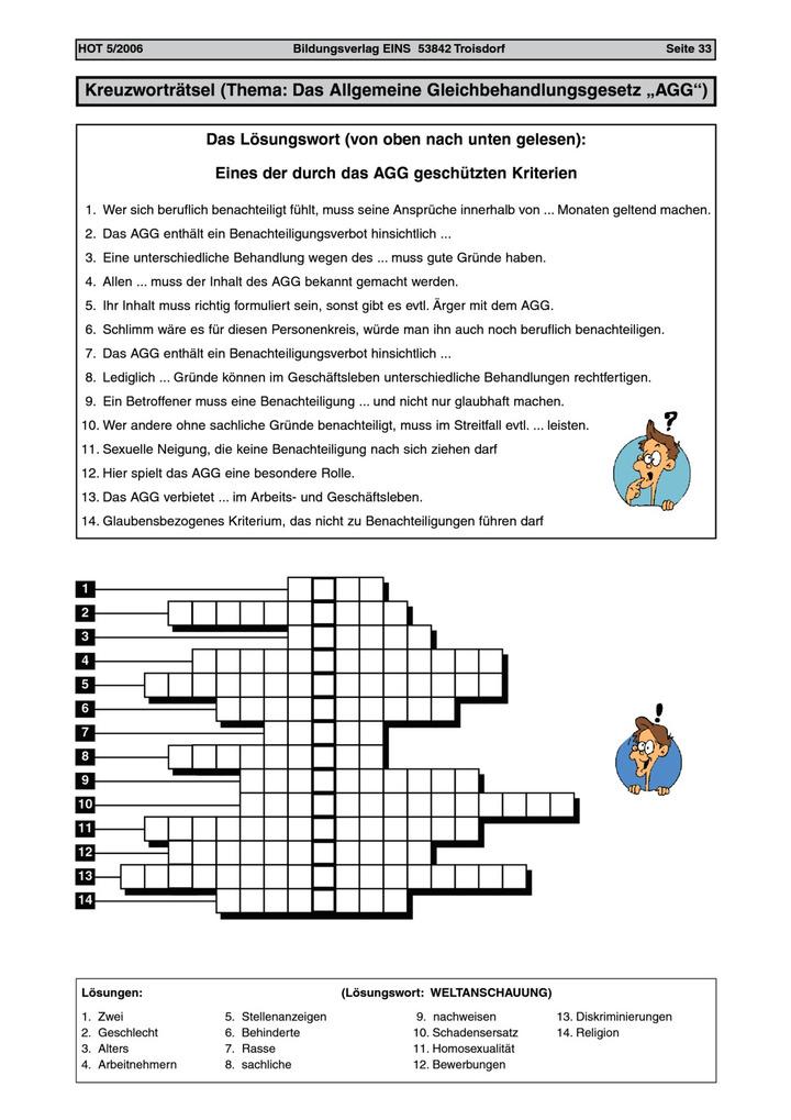 Kreuzworträtsel Allgemein