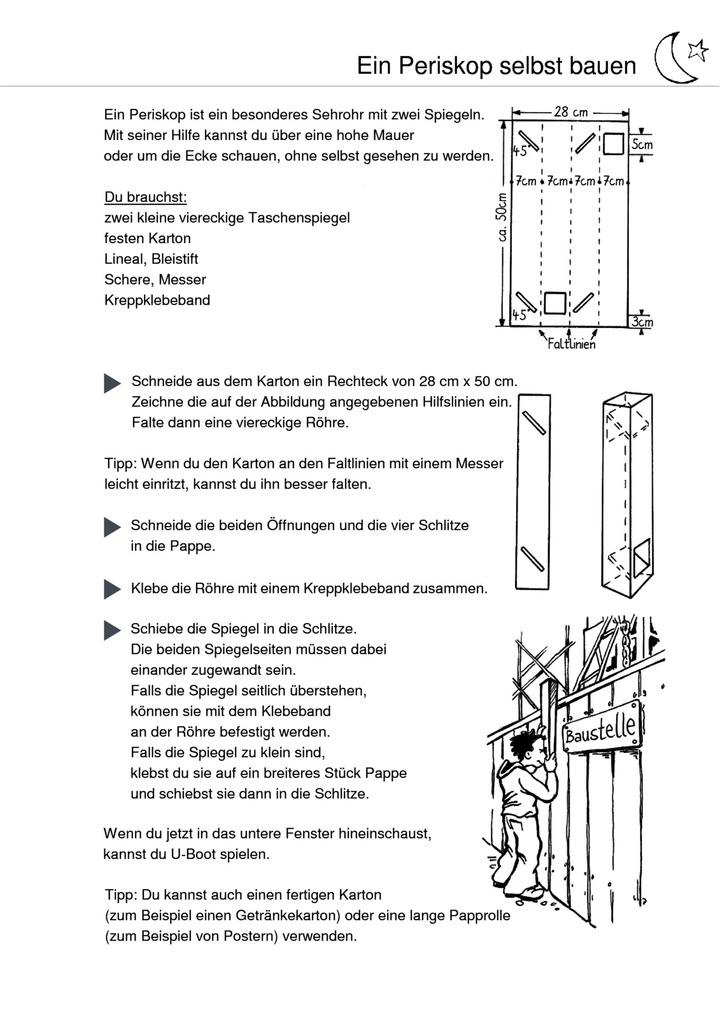 Ein Periskop selbst bauen - Bauanleitung: Verlage der Westermann Gruppe