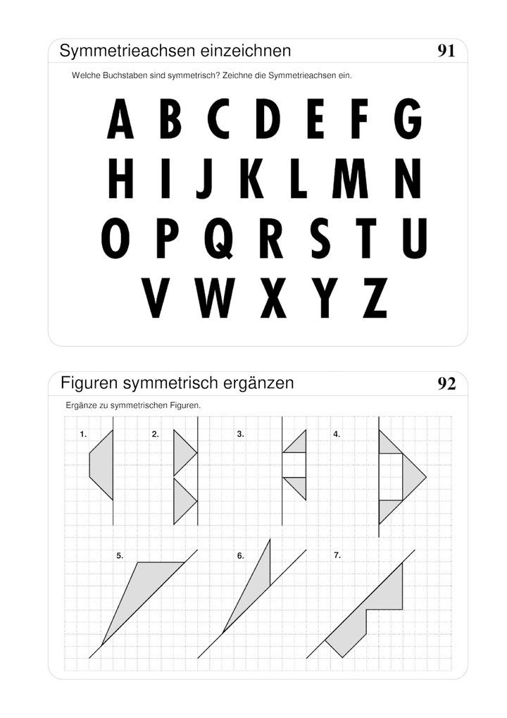 Achsensymmetrie - Buchstaben und Figuren: Verlage der Westermann Gruppe