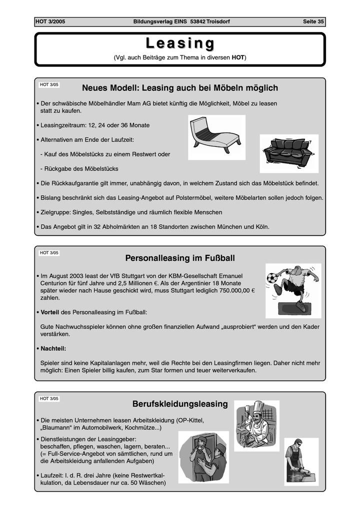 Leasing: Bildungsverlag EINS