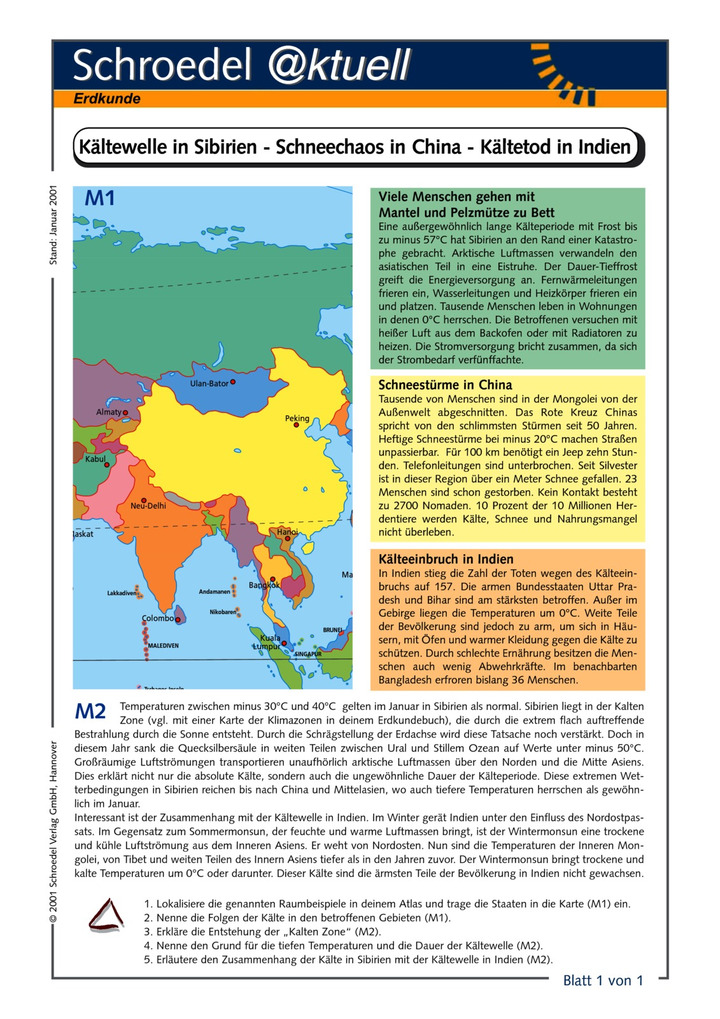 Kältewelle in Sibirien - Schneechaos in China - Kältetod in Indien ...