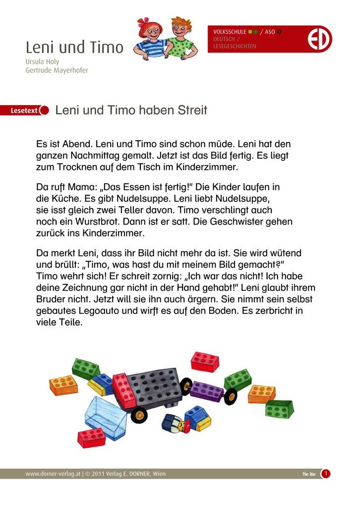 Herbstgeschichten rund um Leni und Timo 8 - Leni und Timo haben ...