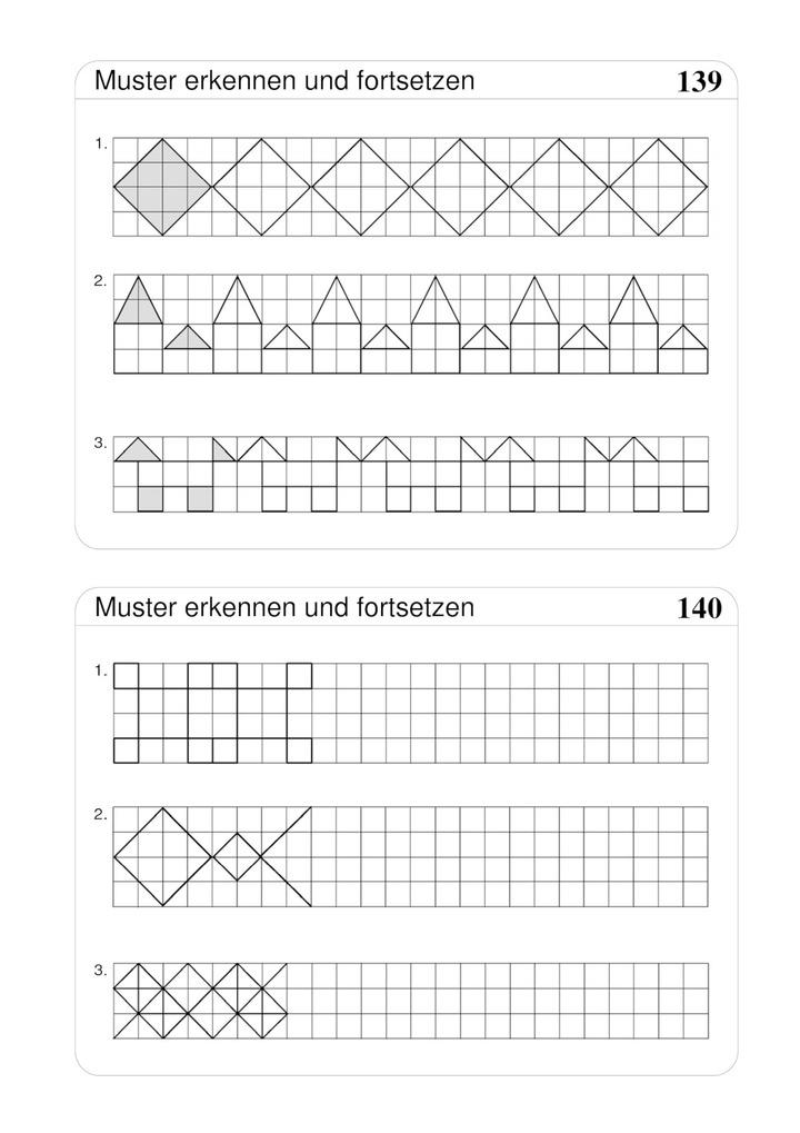 Geometrische Muster Erkennen Und Fortsetzen Verlage Der