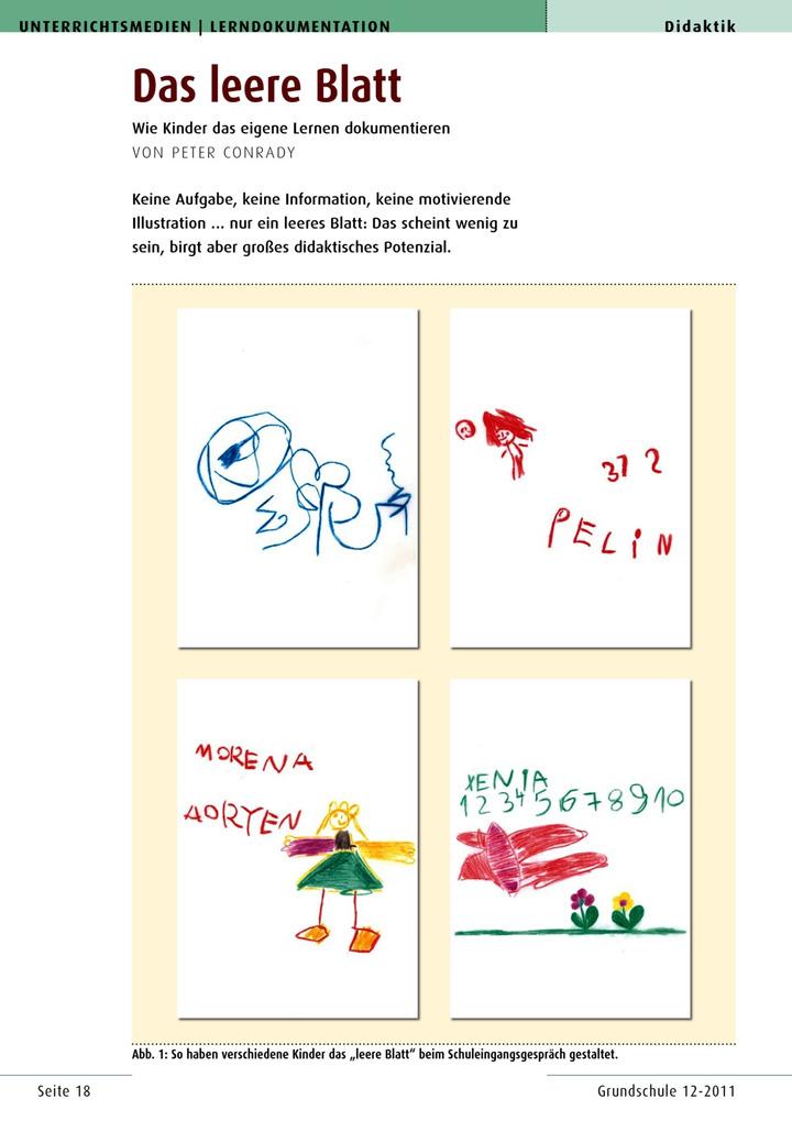 Das leere Blatt - Wie Kinder das eigene Lernen dokumentieren ...