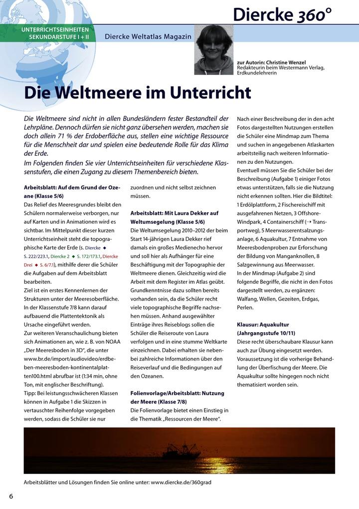 Arbeitsblatt Kl. 5/6: Unterwegs mit Laura Dekker - inkl. Lösungen ...