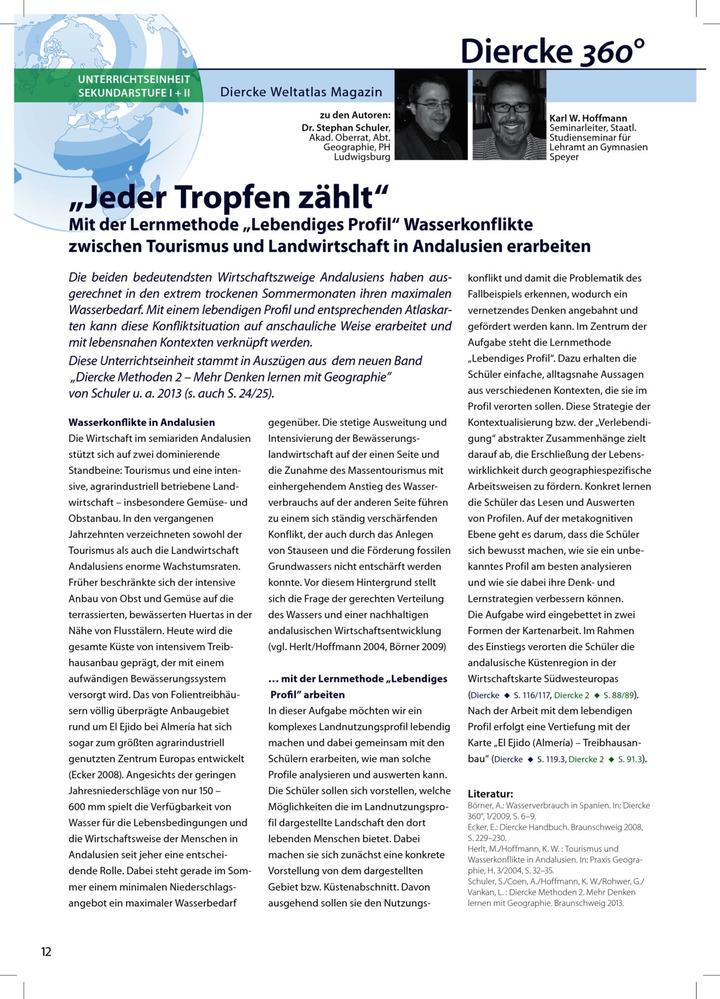 Arbeitsblatt Sek I + II: Jeder Tropfen zählt - Wasserkonflikte ...