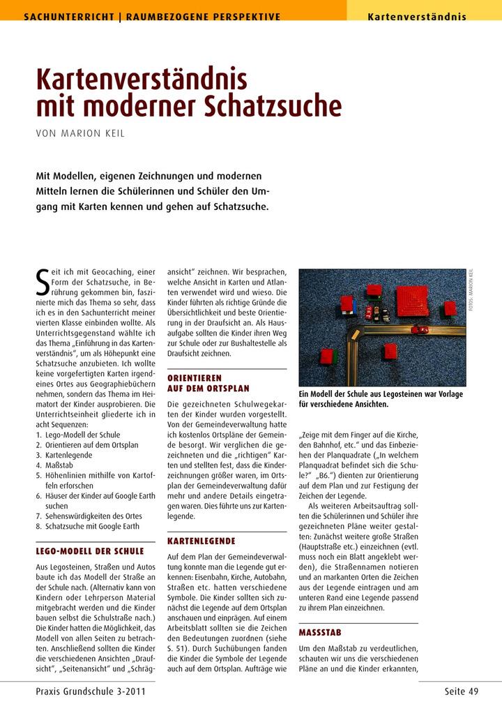 Kartenverständnis mit moderner Schatzsuche: Verlage der Westermann ...
