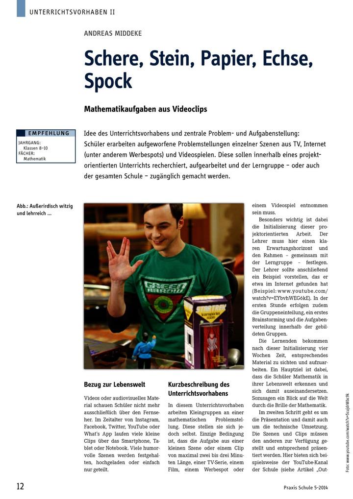 Schere echse spock
