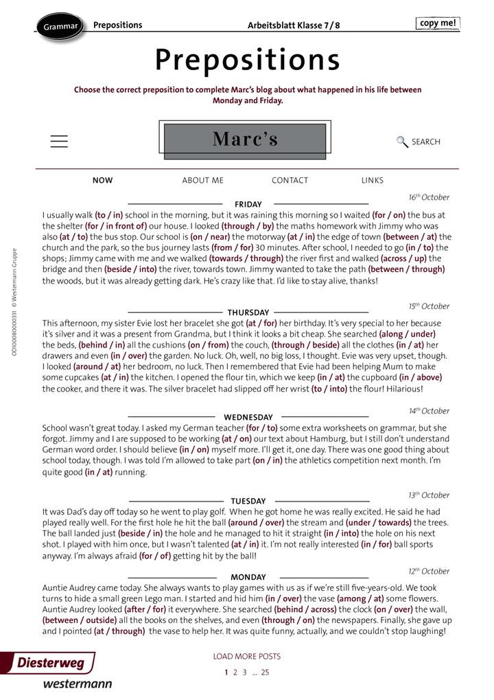 Prepositions: Verlage der Westermann Gruppe