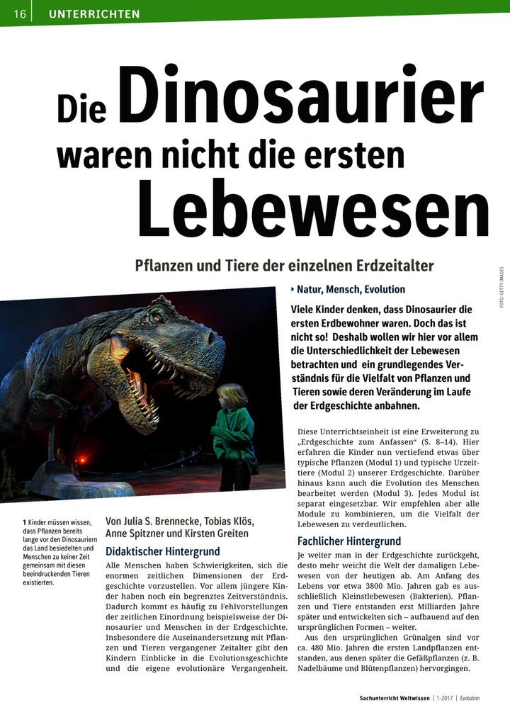 Die Dinosaurier waren nicht die ersten Lebewesen - Pflanzen und ...