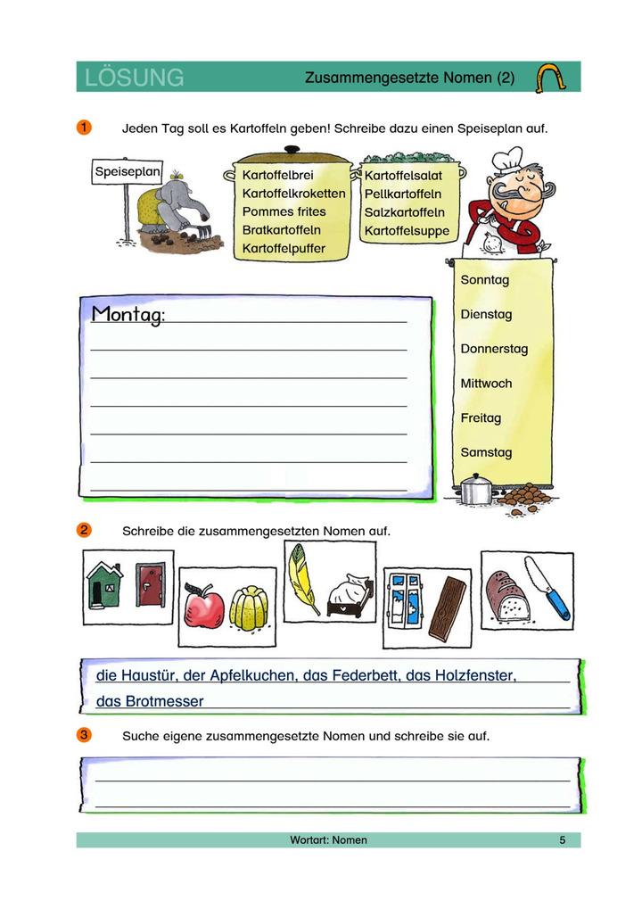 Zusammengesetzte Nomen 2 - Nomen zusammensetzen - Lösungen: Verlage ...