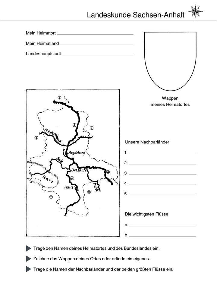 Karte Sachsen Anhalt Mit Flüssen.Landeskunde Sachsen Anhalt Karte Verlage Der Westermann Gruppe